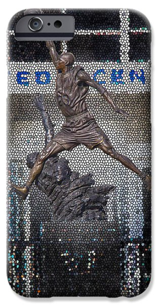 Dunk iPhone Cases - Michael Jordan Stained Glass iPhone Case by Robert Storost