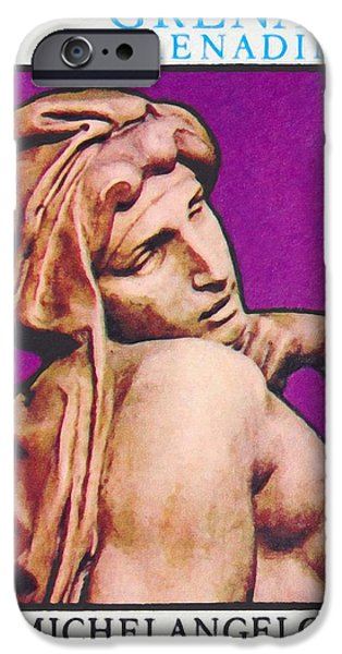 Painter Photographs iPhone Cases - Michelangelo Buonarroti iPhone Case by Lanjee Chee