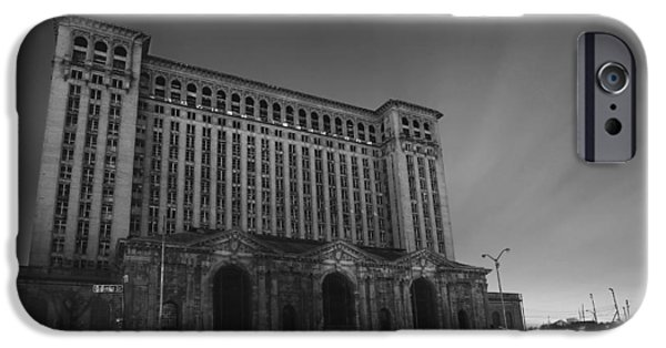 Old Man Digital iPhone Cases - Michigan Central Station At Midnight iPhone Case by Gordon Dean II