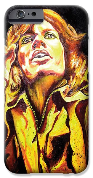 Mick Jagger Paintings iPhone Cases - Mick iPhone Case by Jacqueline DelBrocco