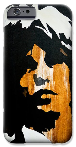 Mick Jagger Paintings iPhone Cases - Mick Jagger Get what you want iPhone Case by Brad Jensen