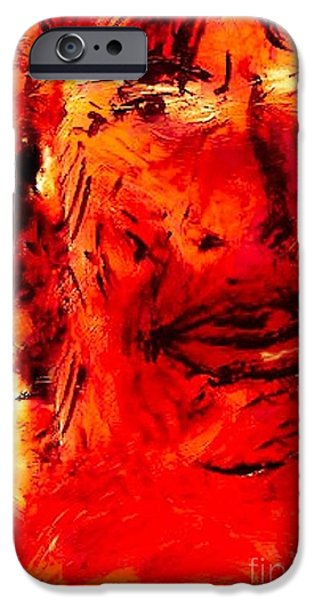 Mick Jagger Paintings iPhone Cases - Mick iPhone Case by Yelena Wilson