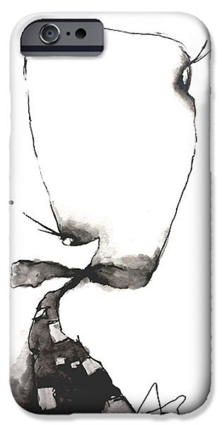 Abnormal Drawings iPhone Cases - Microphthalmia  iPhone Case by Nick Watts