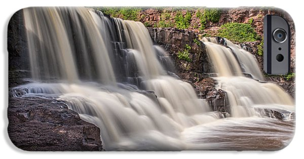 Tree Art Print iPhone Cases - Middle Falls at Gooseberry Falls State Park 2 iPhone Case by Bill Bucu