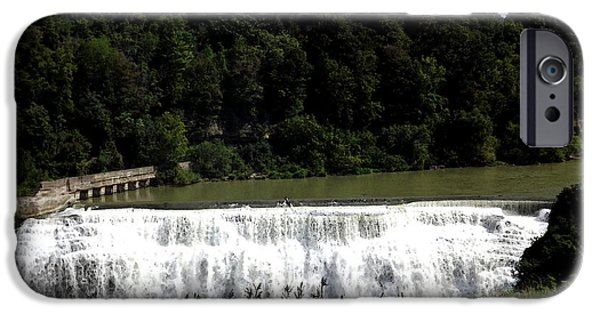Artists4god iPhone Cases - Middle Falls in Rochester New York iPhone Case by Rose Santuci-Sofranko