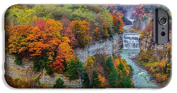 Nature Scene iPhone Cases - Middle Falls Peak iPhone Case by Mark Papke