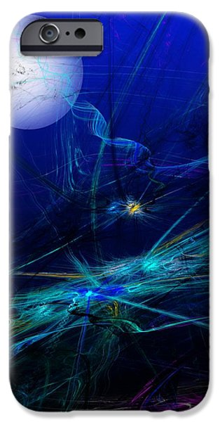 Expressionism Digital Art iPhone Cases - Midnight Abstract iPhone Case by David Lane