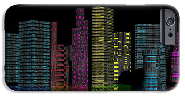 Strange iPhone Cases - Midnight City iPhone Case by Mark Blauhoefer