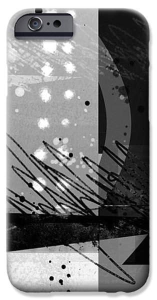 Ann Powell iPhone Cases - Midnight in the City 1 triptych iPhone Case by Ann Powell