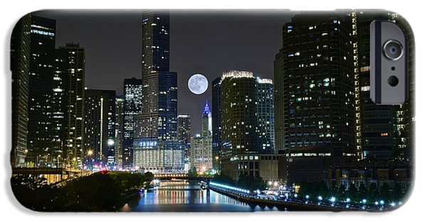 Sears Tower iPhone Cases - Midnight in the Windy City iPhone Case by Frozen in Time Fine Art Photography