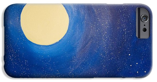 Constellations iPhone Cases - Midnight iPhone Case by Jacie  Garcia