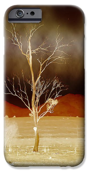 Surreal Landscape Digital iPhone Cases - Midnight Vogue iPhone Case by Holly Kempe