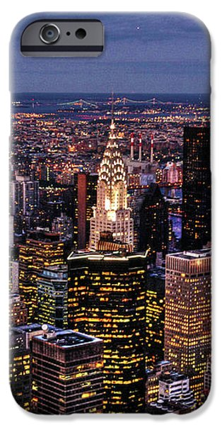 Midtown Skyline at Dusk iPhone Case by Randy Aveille