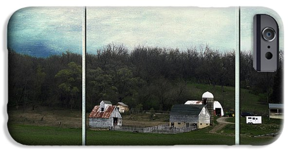 Shed Mixed Media iPhone Cases - Midwest Country Living Triptych 3 Panel 01 iPhone Case by Thomas Woolworth