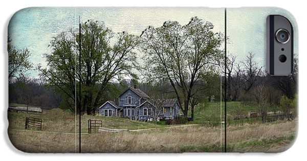 Shed Mixed Media iPhone Cases - Midwest Country Living Triptych 3 Panel 03 iPhone Case by Thomas Woolworth