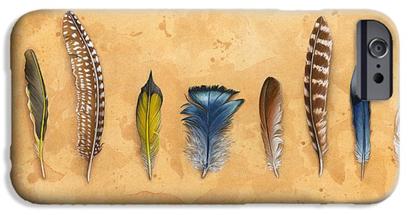 Still Life Tapestries - Textiles iPhone Cases - Midwest Feathers iPhone Case by Kelsey Wilson