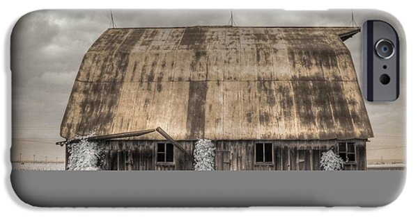 Rustic Barns iPhone Cases - Midwestern Barn iPhone Case by Jane Linders