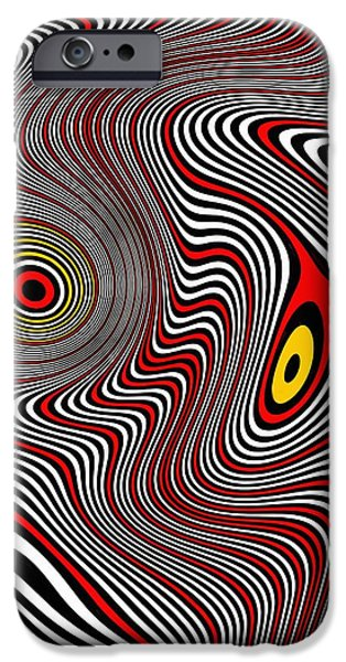 Op iPhone Cases - Migraine Aura iPhone Case by Pet Serrano