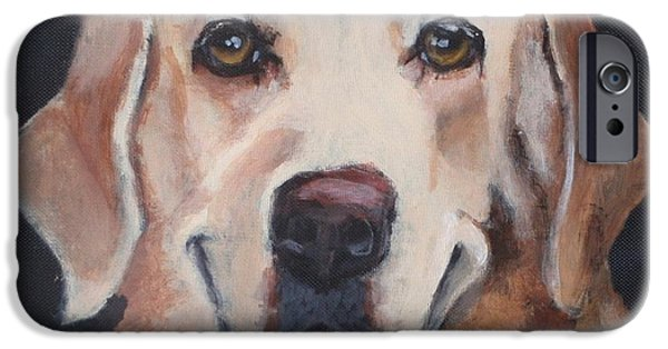 Dog Close-up iPhone Cases - Mila Luna iPhone Case by Carol Russell