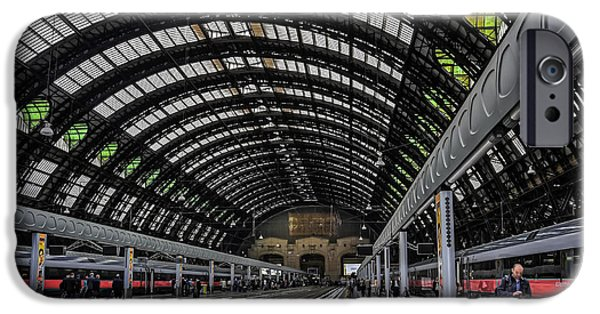 Town iPhone Cases - Milano Centrale iPhone Case by Carol Japp