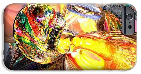 Abnormal iPhone Cases - Mildly Stimulated Abstract iPhone Case by Alexander Butler