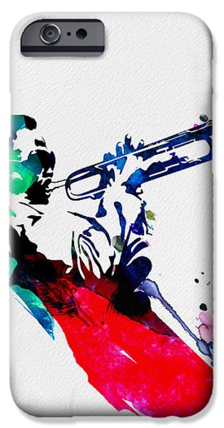 British Rock Star iPhone Cases - Miles Watercolor iPhone Case by Naxart Studio
