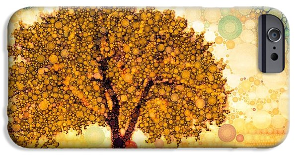 Trees At Sunset iPhone Cases - Milk And Honey iPhone Case by Steven Boland