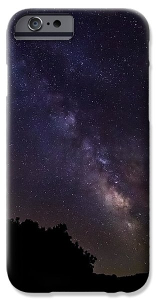 Constellations iPhone Cases - Milky Way Galaxy iPhone Case by Dale Kincaid