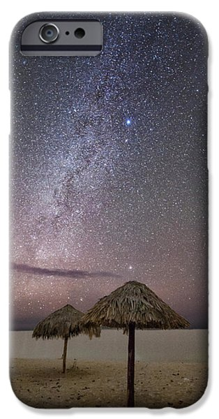 Beach iPhone Cases - Milky Way in Cuba iPhone Case by Keith Marsh