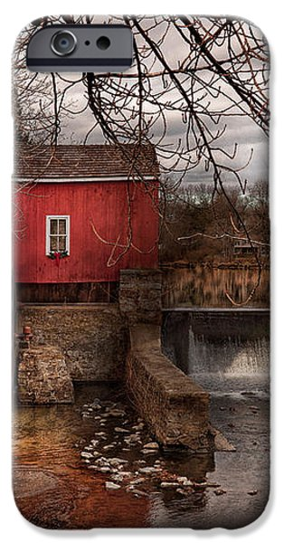 Mill - Clinton NJ - The mill and wheel iPhone Case by Mike Savad