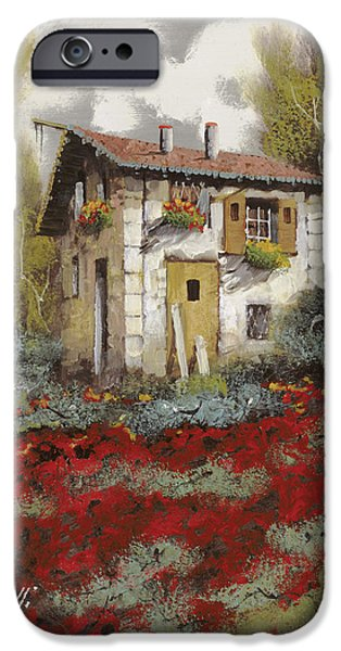 House Art iPhone Cases - Mille Papaveri iPhone Case by Guido Borelli