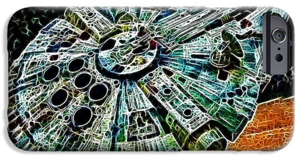 Star Alliance Photographs iPhone Cases - Millenium Falcon iPhone Case by Paul Ward