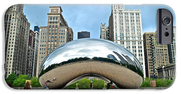 Chicago Cubs iPhone Cases - Millennium Bean iPhone Case by Frozen in Time Fine Art Photography
