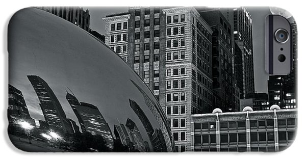 Wrigley iPhone Cases - Millennium Park Bean iPhone Case by Frozen in Time Fine Art Photography