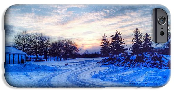 Winter Scene iPhone Cases - Millers Crossing iPhone Case by 2141 Photography