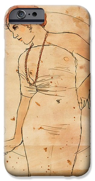 Voluptuous iPhone Cases - Millie and her Cigar iPhone Case by H James Hoff