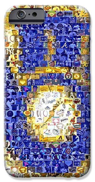 Mosaic iPhone Cases - Milwaukee Brewers Mosaic iPhone Case by Paul Van Scott
