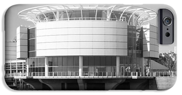 Discovery iPhone Cases - Milwaukee Panorama Picture in Black and White iPhone Case by Paul Velgos