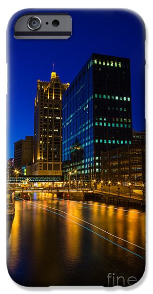 River iPhone Cases - Milwaukee Twilight Glow iPhone Case by Andrew Slater