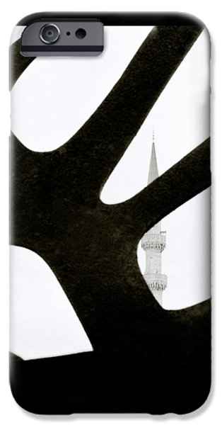 Brutalism iPhone Cases - Minaret And Art iPhone Case by Shaun Higson