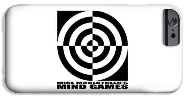 Circles Drawings iPhone Cases - Mind Games 1SE iPhone Case by Mike McGlothlen