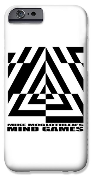 Circles Drawings iPhone Cases - Mind Games  21SE iPhone Case by Mike McGlothlen
