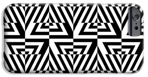 """square Art"" Drawings iPhone Cases - Mind Games 24 Panoramic iPhone Case by Mike McGlothlen"
