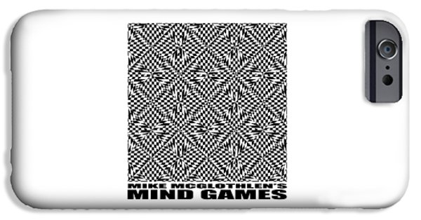 Circles Drawings iPhone Cases - Mind Games 61SE 2 iPhone Case by Mike McGlothlen