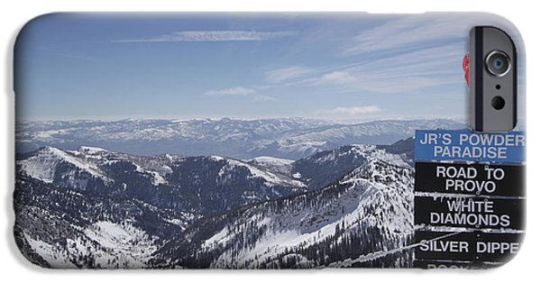 Snowbird iPhone Cases - Mineral Basin iPhone Case by Adam Jewell