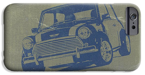 Old Digital iPhone Cases - Mini Cooper iPhone Case by Naxart Studio