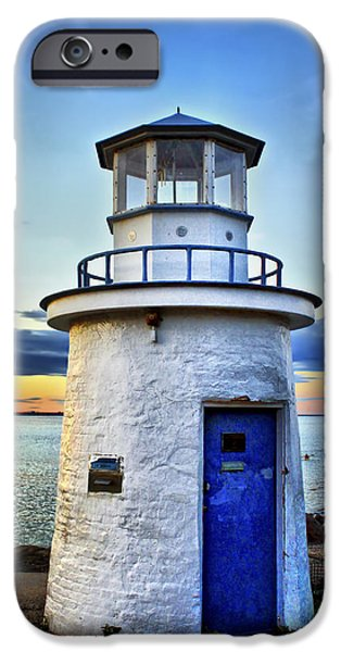 New England Lighthouse iPhone Cases - Miniature Lighthouse iPhone Case by Evelina Kremsdorf