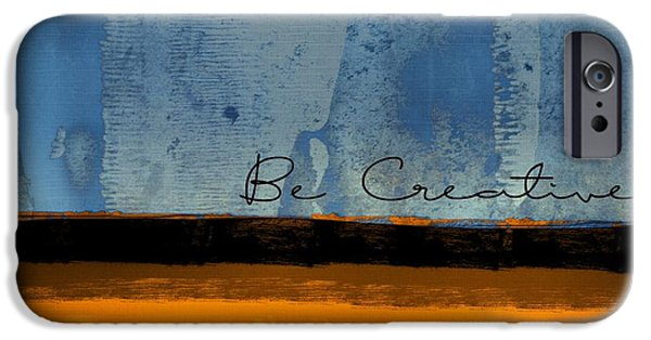 Blue Abstracts iPhone Cases - Minima - Be Creative 01b- bo iPhone Case by Variance Collections