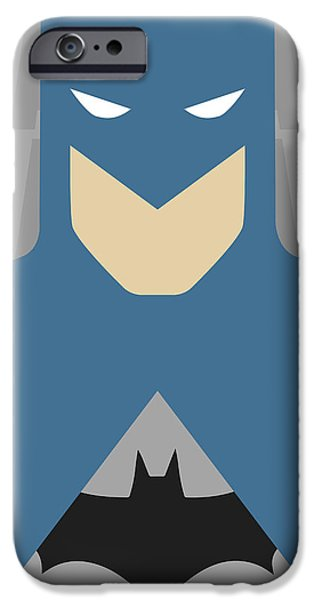 Justice League iPhone Cases - Minimal Batman 2 iPhone Case by Manny Jasus