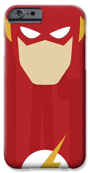 Justice League iPhone Cases - Minimal Flash iPhone Case by Manny Jasus
